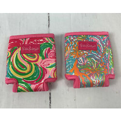 Lilly Pulitzer Can Cooler Hugger Koozie Coozie Lot of 2