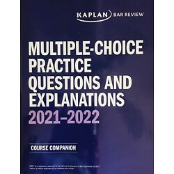 **BRAND NEW** 2021-2022 Kaplan Bar Rev MBE Practice Questions & Answers
