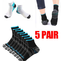 Compression Socks Foot Pain Relief Ankle Support Sleeve Brace Plantar Fasciitis