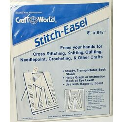 Vintage Craft World Stitch Easel 8'' x 8 3/4'' 1983 Transportable Book stand