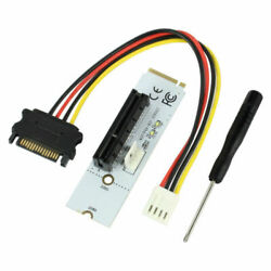 ITHOO for NGFF M2 to PCI-e 4X 1X Slot Riser Card M Key SSD Port to PCIE Adapter
