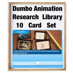 DUMBO ANIMATION RESEARCH LIBRARY-10 CARD SET-TOPPS DISNEY COLLECT