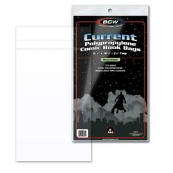 500 BCW CURRENT RESEALABLE MODERN AGE COMIC BOOK 2 MIL ACID FREE ARCHIVAL BAGS