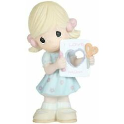 Precious Moments ''I Love Mom Figurine, Girl Mother's Day Best Mom Gift