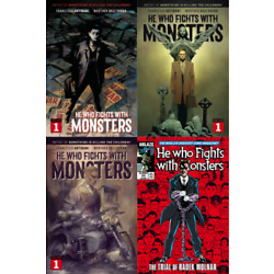HE WHO FIGHTS WITH MONSTERS #1 CVR A B C D SET (NM) ABLAZE - WERTHER DELL'EDERA
