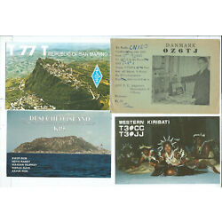 Lot of 48 Postcards and Non Postcards QSL Short Wave Radio Worldwide