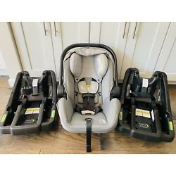 Baby Jogger City Go Infant Baby Car Seat with 2 Bases in Gray