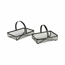 Pomeroy Traditional Howell Set Of 2 Baskets 639487