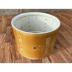 1970s Ludwig 9x13 Thermogloss Tom Drum Shell Natural