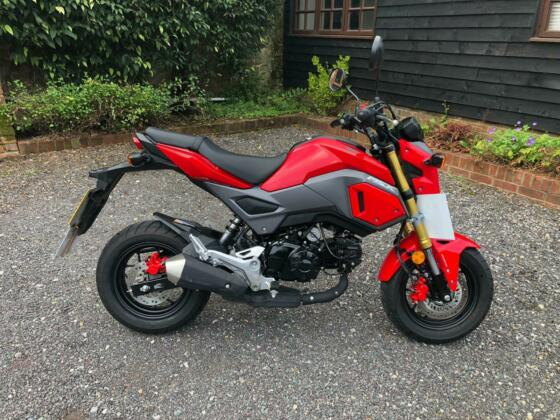Honda MSX 125 Grom ABS 2019 Red Low Mileage One Owner