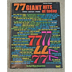 77 Giant Hits of Today vocal piano guitar voice 1975 Big 3 Sheet Music