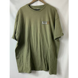 Mens 5.11 Tactical Green Military T Shirt Size 2XL Always Be Ready