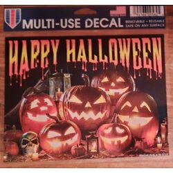 Halloween Decal Sticker Decoration Removable, Reusable, 4.5'' x 5.5'' Made in USA