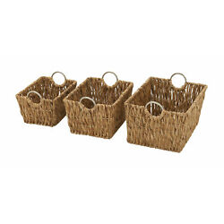 Exceptional Set of 3 Sea Grass Baskets