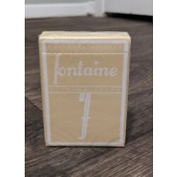 Fontaine Horchata Edition Playing Cards | Sold Out | Sealed | 1 of 2500