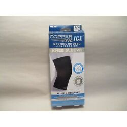 NIB Copper Fit Ice Menthol Infused Compression Knee Sleeve size S/M 12'-16''