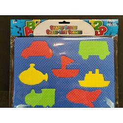 ABC & 123 7 Pieces Shapes Puzzle Cars and boat For Kids 3 PLUS