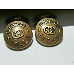Gucci 2 buttons BRONZE copper color  GG 20 mm  BUTTONS THIS IS FOR 2