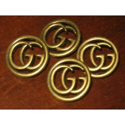 Gucci 4 buttons BRONZE BRASS   23 mm  LARGE BUTTONS THIS IS FOR 4