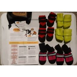 Assorted Dog Boots (MuttLuks, Pooch Plus) Size XX Small Lot of 3 Sets (12 boots)