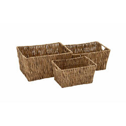 Elegant And Beautiful Style Seagrass Basket Set Of 3 Home Decor 48972