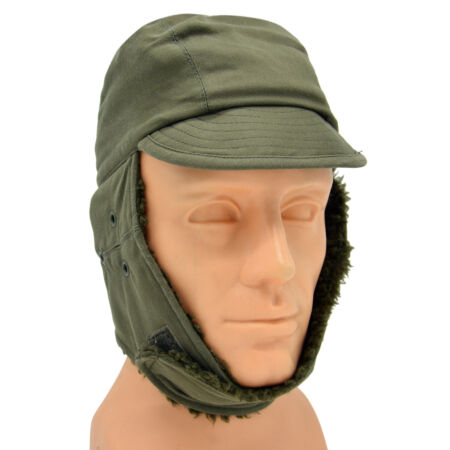 img-French Military Army Foreign Legion Cold Weather Winter Arctic Trapper Hat Cap