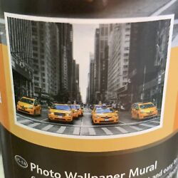 Melinera Taxi Cabs City Street Photo Wallpaper Wall Mural Space 12 Ft x 8.3 Ft