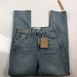 reformation jeans womens liza high rise straight cropped jeans size 24
