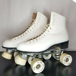 VTG Riedell 220W Roller Skates Size 8 Sure-Grip Plates All American Plus