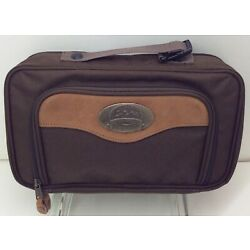 Cabela s Outback Series Brown Toiletry Shave Case Small Zippered Mens Travel Bag