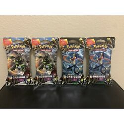 Pokemon Sun And Moon Forbidden Light Sleeved 10 Card Booster Pack Sealed 4x lot