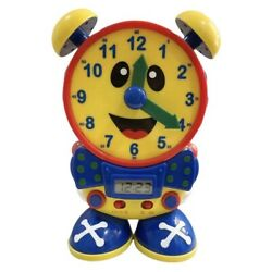 10'' Telly the Teaching Time Clock Learning How to Tell Time Hard Plastic Toy