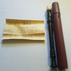 Zen-On Soprano Recorder Flute with round case & instructions from Japan