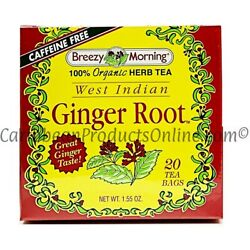 Breezy Morning 100% Herbal Ginger Root 20 teabags. Visit our Store & Save Huge