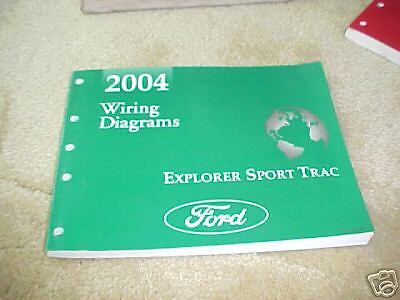 2004 ford explorer sport trac wiring diagrams manual ebay. Black Bedroom Furniture Sets. Home Design Ideas