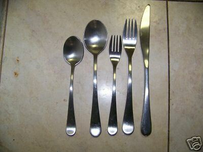 12 pcs stainless flatware gourmet settings windermere ebay - Gourmet settings silverware ...