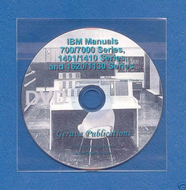 ibm 7090 7094 709 704 1401 1410 1620 1130 manuals dvd ebay. Black Bedroom Furniture Sets. Home Design Ideas