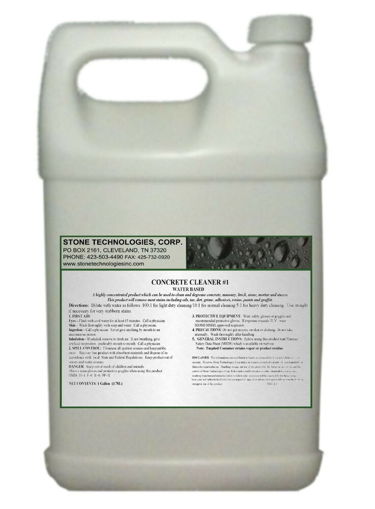 1 gallon concentrated concrete cleaner 1 for bricks for Concrete cleaner oil remover