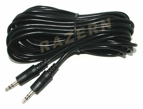 New 25 Ft 3 5mm 1 8 Auxiliary Aux Stereo Audio Input Cable