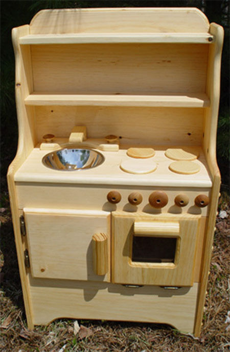 Liam 39 S Kitchen Handmade In Usa Solid Wood Play Kitchen Ebay