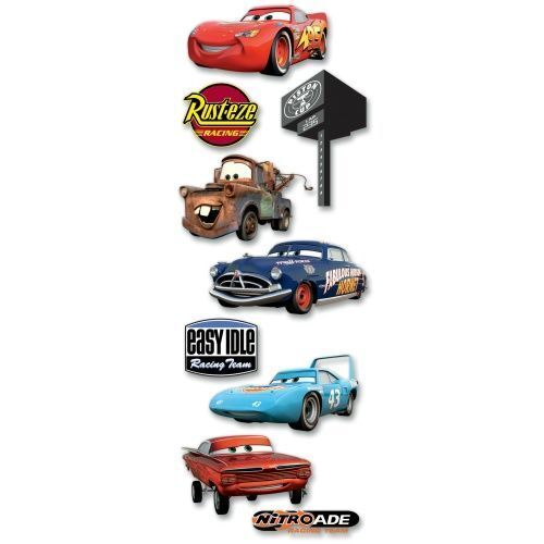 Disney CARS Characters 3d Scrapbook Stickers