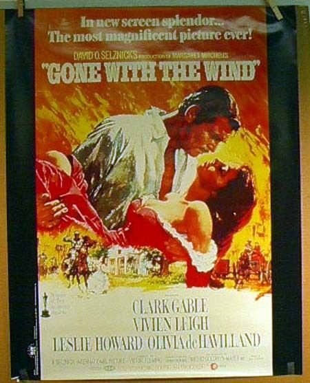 Gone With the Wind Movie Poster- Reprint- ROLLED | eBay
