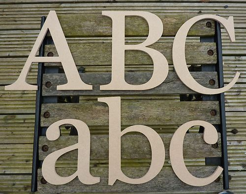 Wooden Alphabet Letters 12 Inch E Style Ebay