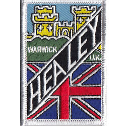 Austin Healey Warwick castle embroidered patch
