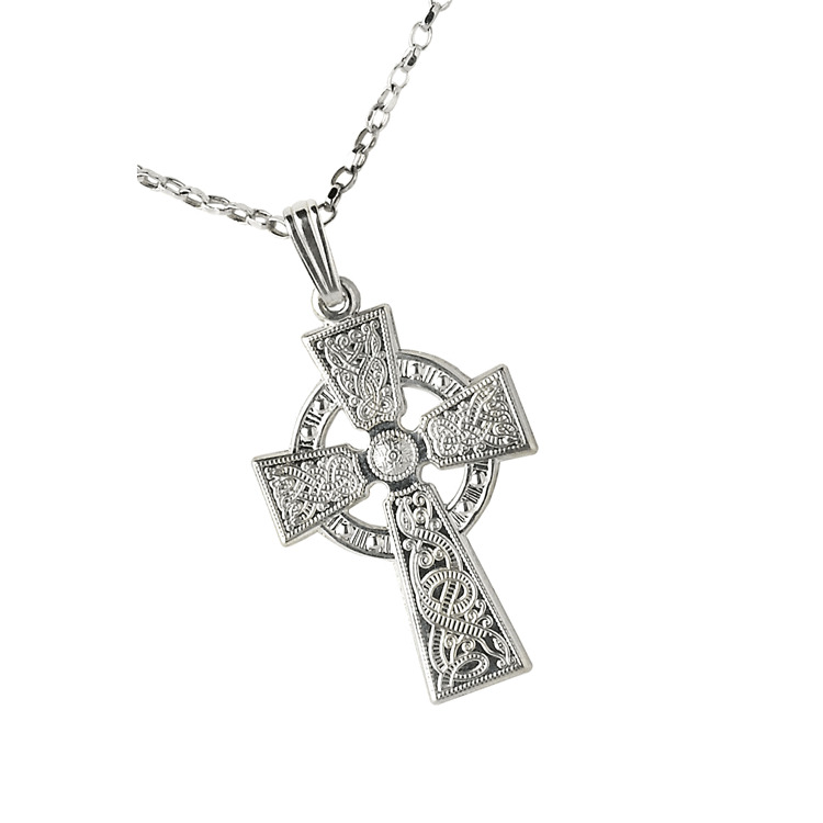 Sterling Silver Medium Warrior Shield Celtic Cross Ebay