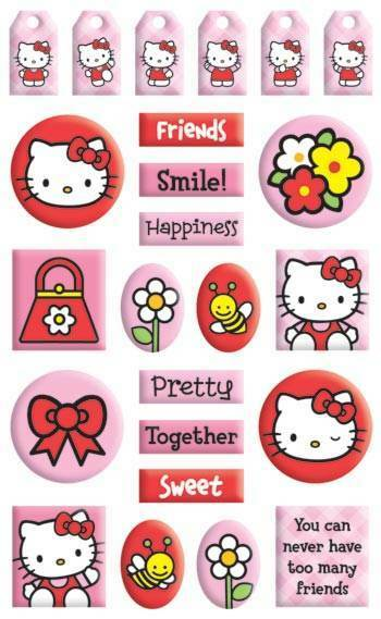 HELLO KITTY 3d Gem Stickers  eBay