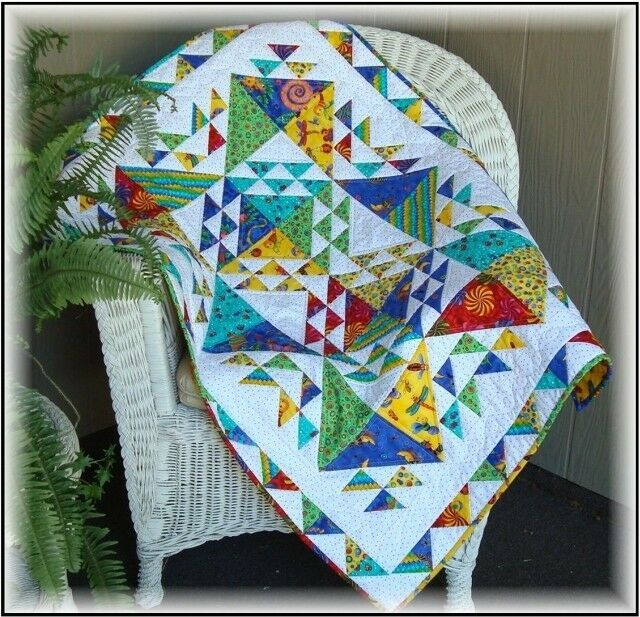 FAT QUARTER FRIENDLY Baby Crib Queen Quilt Pattern NEW Beginnings Colorful #414 eBay