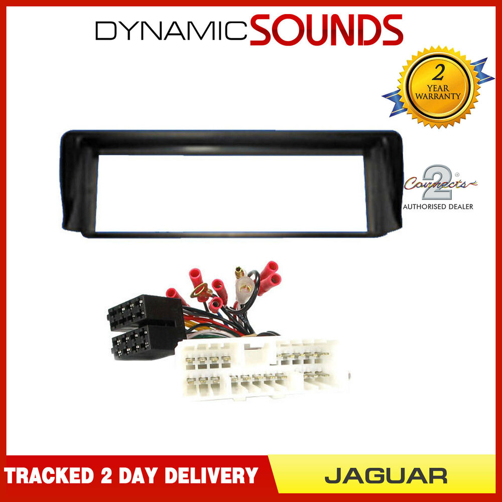 Car Stereo Fascia Panel Fitting  U0026 Wiring Kit For Jaguar
