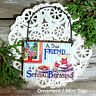 DECO Mini Fun Sign TRUE FRIEND SPECIAL BLESSING Ornament  Gift New in Pkg USA