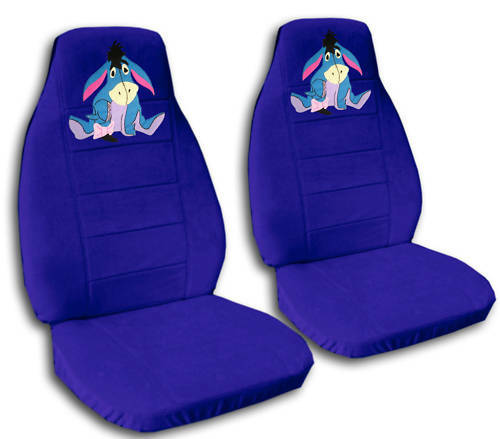 BRAND NEWeeyore CAR SEAT COVERS DARK BLUE AWESOME